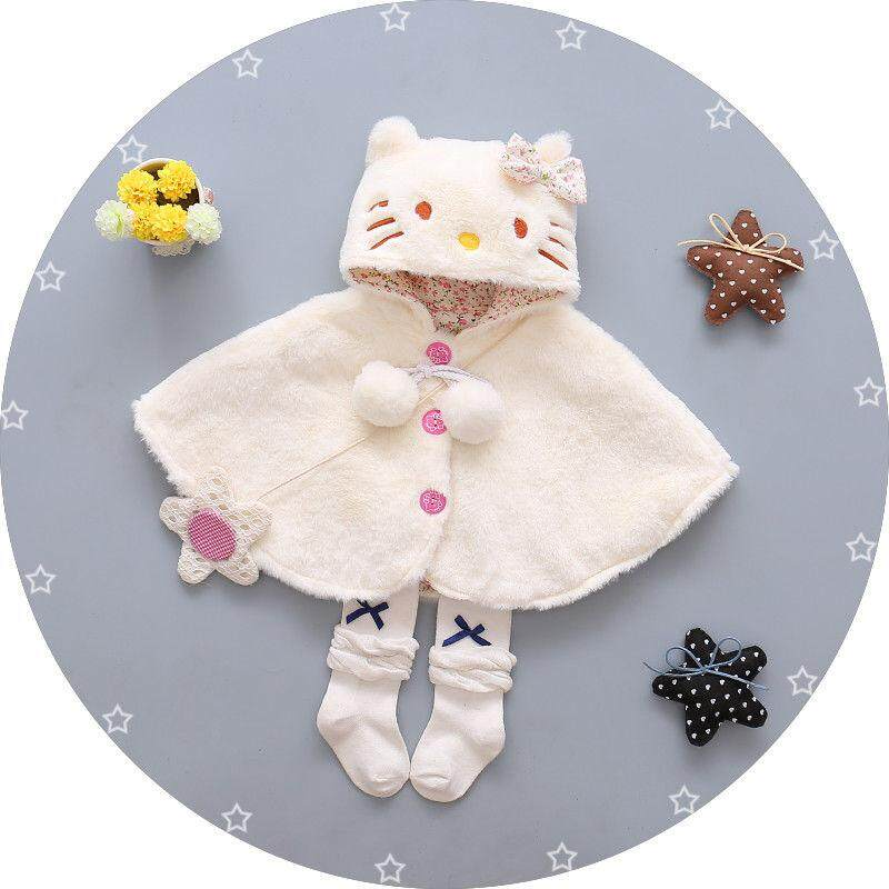 Infant Baby Cat Hooded Cloak Poncho Jacket Outwear Warm Coat Clothes Snowsuit By Gm Mall.