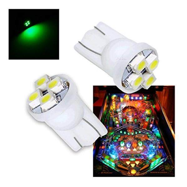 Pa 10pcs 555 T10 4smd Led Pinball Machine Light Bulb Green-6.3v By Buyhole.