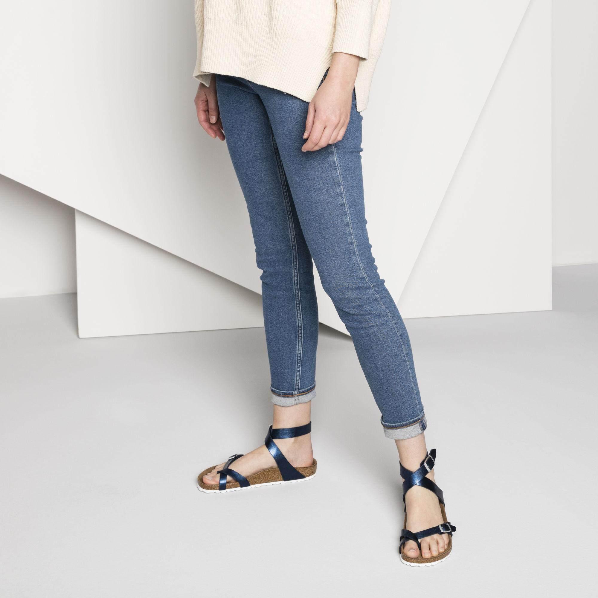 af973eb975e Birkenstocks Women Themes Sandals with footbed Yara Birko-Flor Graceful Sea