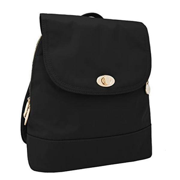 fc5156babab3 Travelon Womens Anti-Theft Tailored Backpack, Onyx, One Size