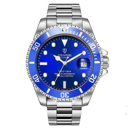 TEVISE Business Watch For Men Luxury Mechanical Watch Automatic Date Stainless Steel Luminous Mens Watch Calendar Clock Malaysia