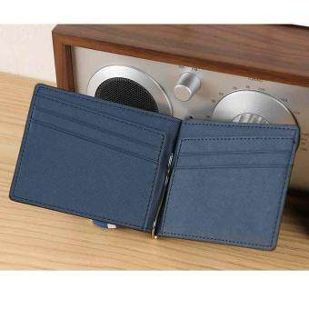 Dueplay New Men Wallet Leather PU Wallet Card Holder With Money Clip Handbag Fashion