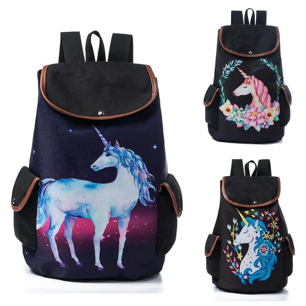839809b9e9b8c Product details of Unicorn Printed School Backpack Drawstring Rucksack For Teenager  Girls Cartoon