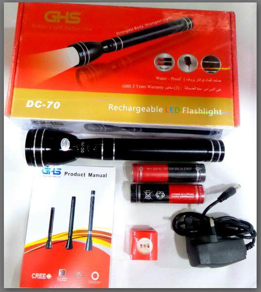 Flashlight Dc70 Outdoor Led Aluminum-Cadmium Flashlight By Fair Price.