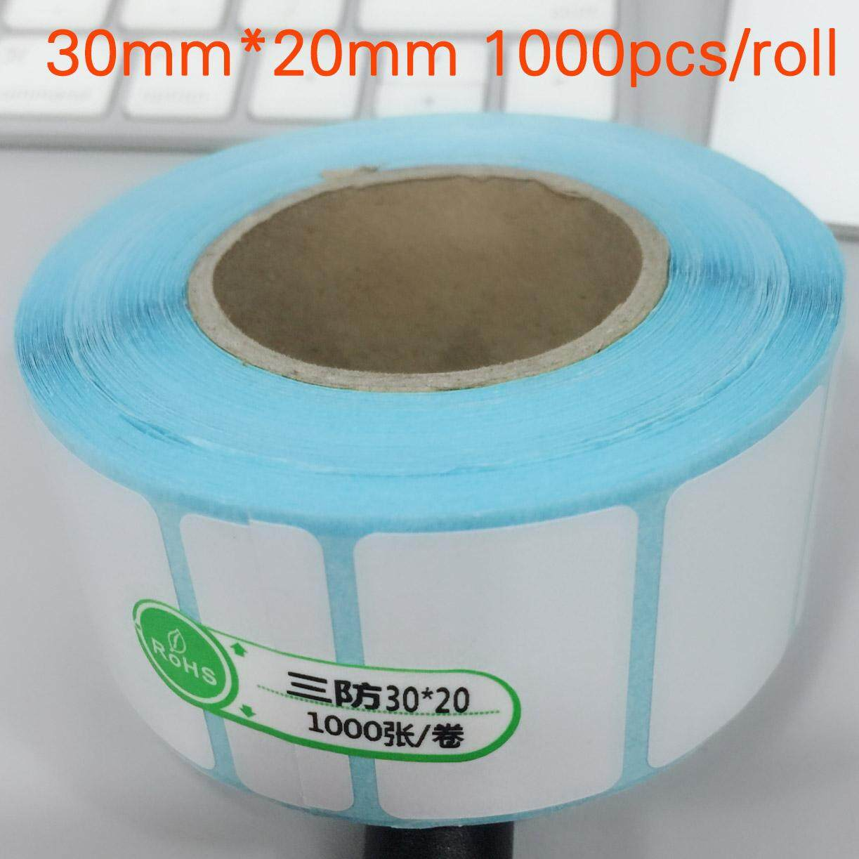 30x20mm 1000pcs Thermal Adhesive Paper Stickers + Quality Label Bar Code Printing Paper By Antshop.