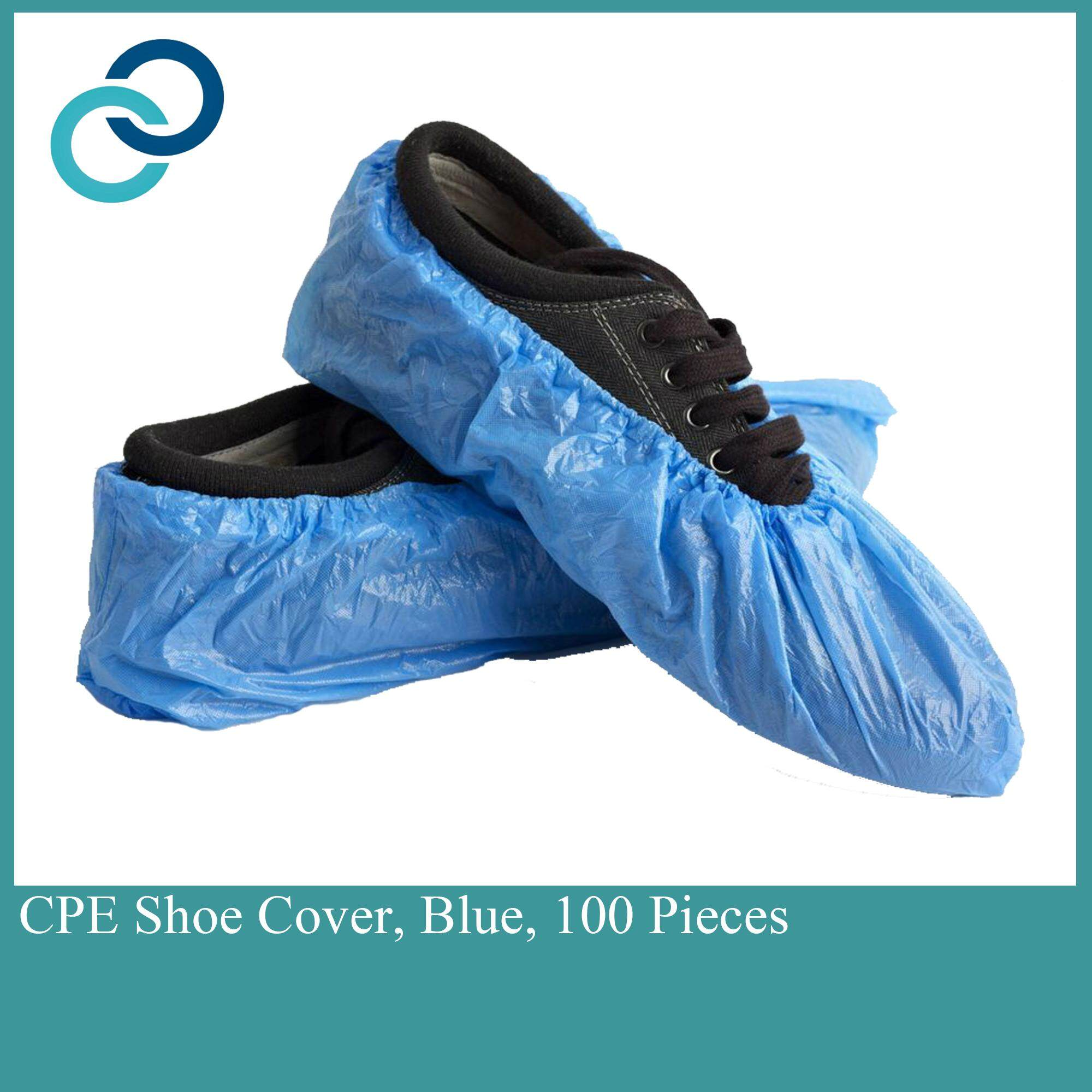 CPE Shoe Cover Blue 100 Pieces