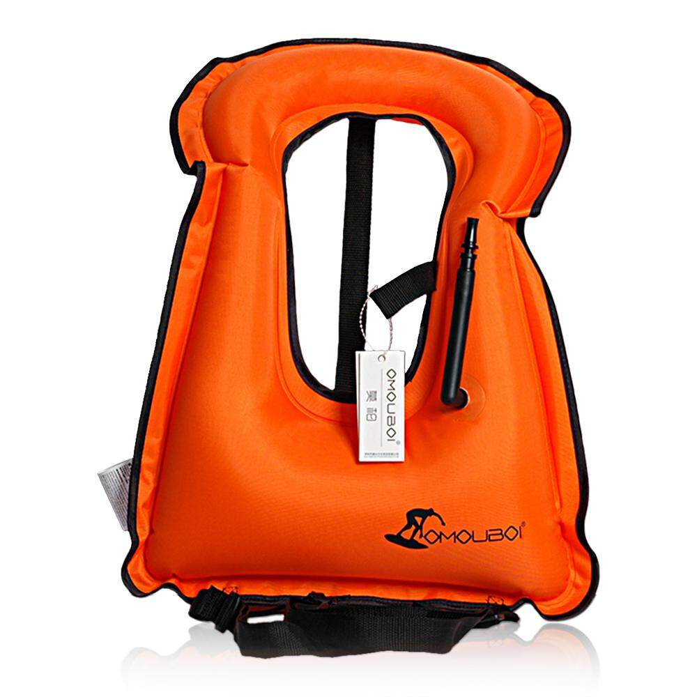 Inflatable Swim Vest Life Jacket For Snorkeling Floating Device Swimming Drifting Surfing Water Sports Life Saving By Tomtop.