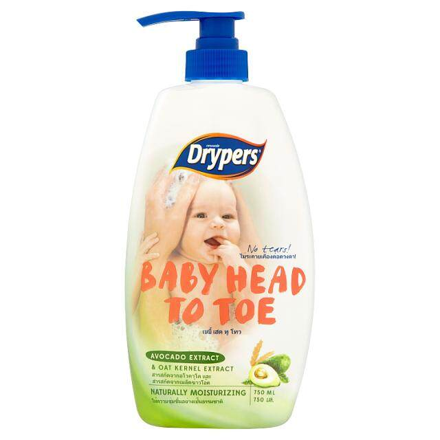 Drypers Baby Head To Toe 750ml Avo By Tesco Groceries.