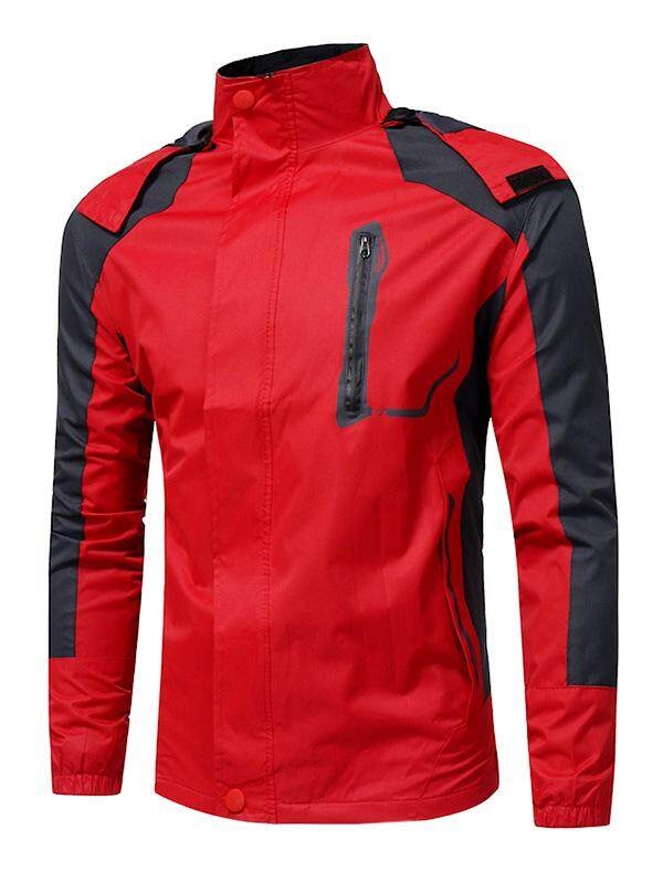 Male Outdoor Warm Hooded Punch Jacket Red L By Goodlife Shopping.