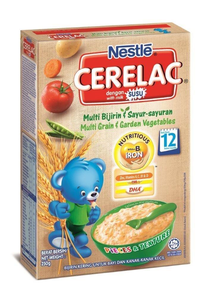 NESTLE CERELAC Multi Grain & Garden Vege Infant Cereal Box Pack ...
