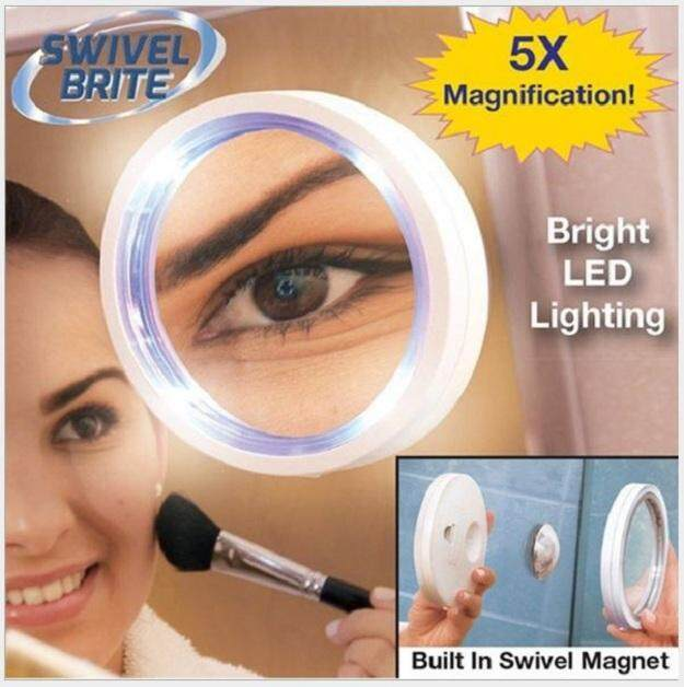 838534783b1 Portable Adsorption Makeup Mirror Glass Bathroom LED Light Mirror Makeup