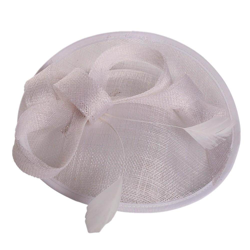 bee4128b Petenies Fashion Wedding Women Fascinator Penny Mesh Hat Ribbons And  Feathers Party Hat