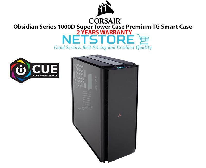 Corsair Obsidian Series 1000D Super Tower Case Tempered Glass Aluminum CC-9011148-WW Malaysia