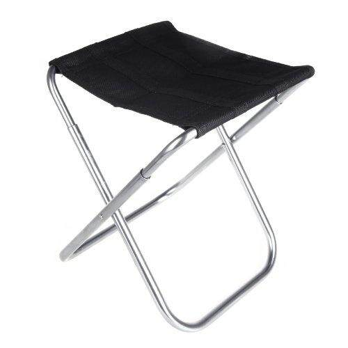Portable Folding Aluminum Oxford Cloth Chair Outdoor Patio Fishing Camping With Carry Bag Black By Xhkjin.