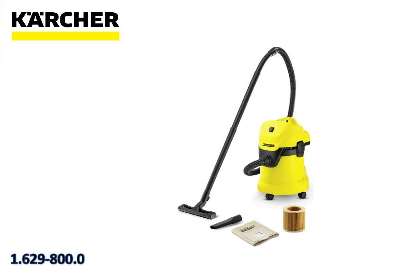 Karcher WD3-17L Wet & Dry Vacuum Cleaner 2/4M 5.4KG 1400W 240V 1.629-800.0