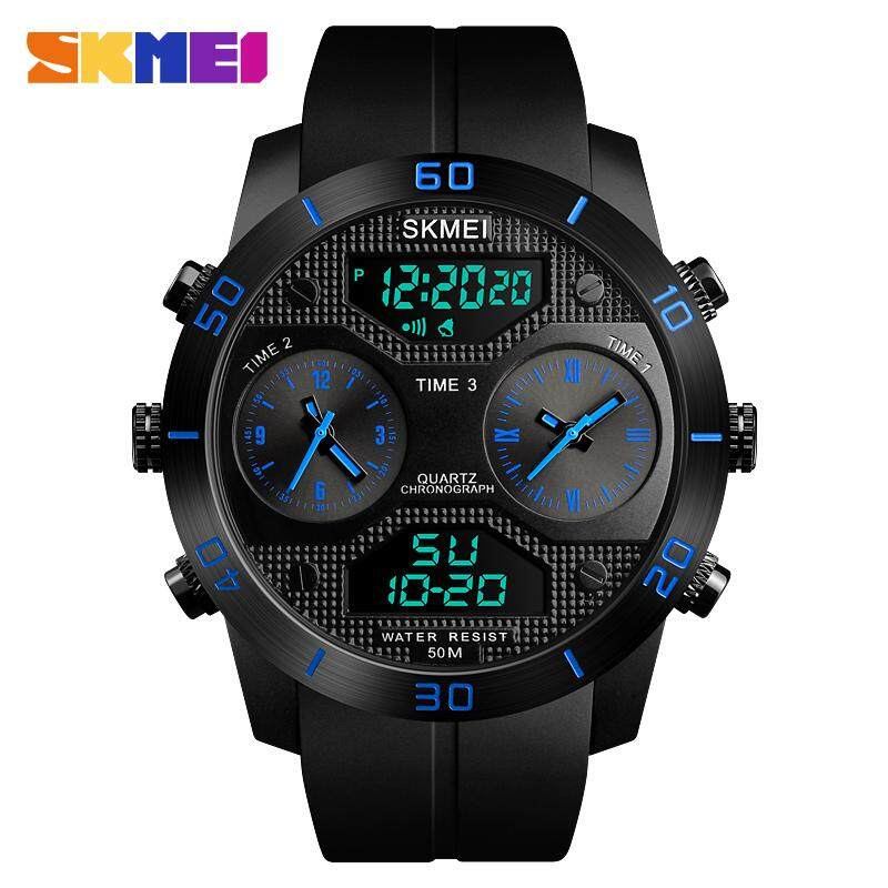 Fashion Men Watches Dress Led Digital Women Sports Watch El Back Chrono Wristwatch Waterproof Reloj Hombre 2018 Skmei And To Have A Long Life. Men's Watches Back To Search Resultswatches