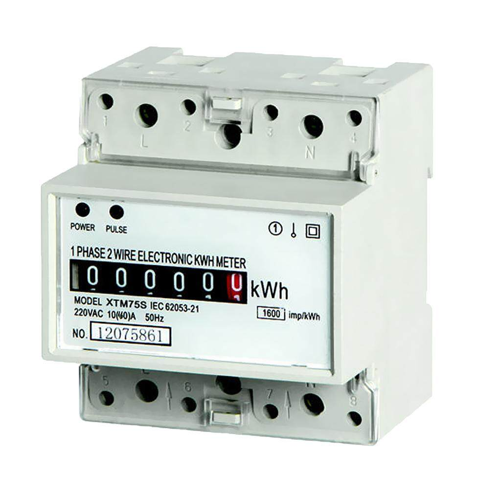 Miracle Shining Single Phase Household Din Rail Contactor Power Energy kwh Meter 220V