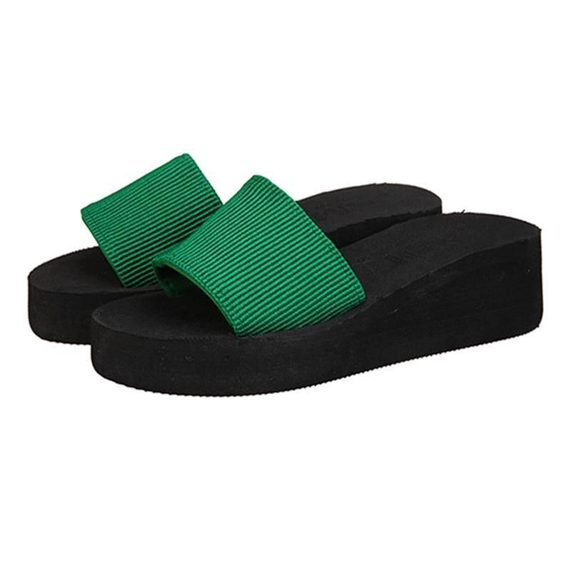 05f267837682b women summer sandals slippers flats beach shoes Green EU37
