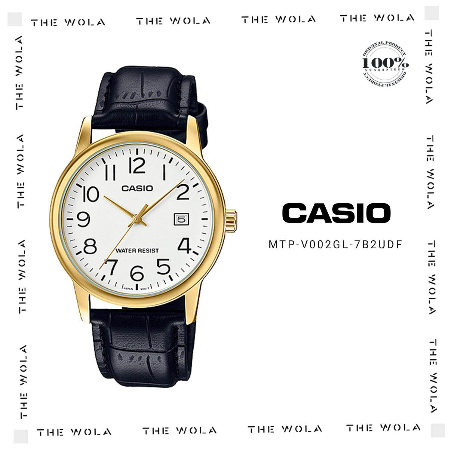 Casio Men Watch Mtp V002l 1a Black Buy Sell Cheapest Casual Best Quality Product Deals V002gl 7b2udf Original Genuine 1 Year Warranty