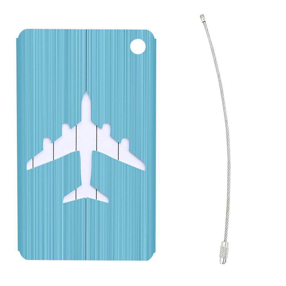 3ceec9b8c8de niceEshop Aluminum Alloy Airplane Luggage Tag, Baggage Identifier Travel  Suitcase Tags with Name ID Card