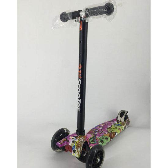 Jmall T Bar Scooter Adjustable Height Flash Wheels Scooter Free Random Gift By Jmall Online.
