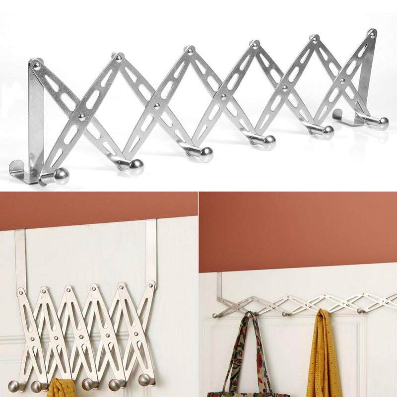 1Pc Stainless Steel Foldable Over Door Hanger Rack Home Bedroom Towel Clothes Hanging Hook New
