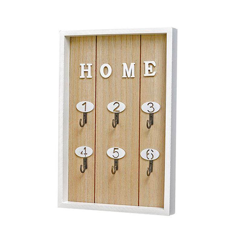 Pink INS Scandinavian Style Wall Decoration Handmade Wooden HOME Key Box Creative Key Box Wall Creative Room Decoration Mural Multi-purpose hook