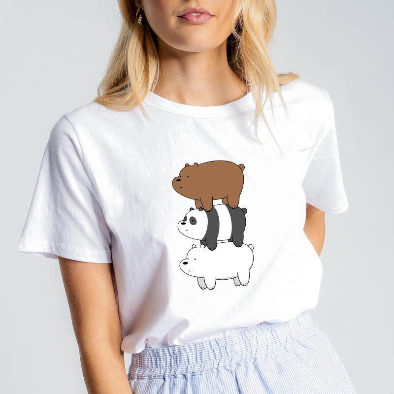 c4e71dcd78e WE BARE BEARS CARTOON REGULAR FIT T-SHIRT WOMEN CLOTHING