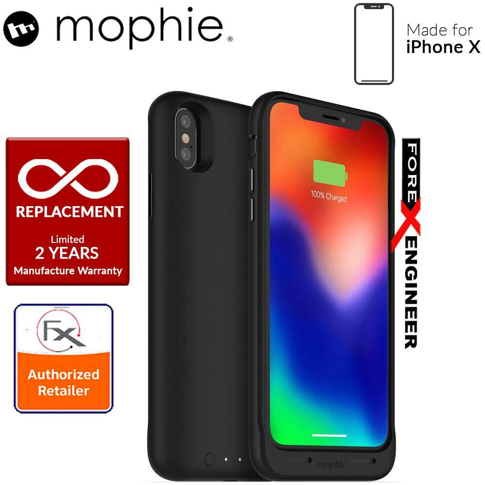 hot sale online 752cd 75ecd Mophie Juice Pack Air Made for iPhone X - Slim protective battery case with  wireless charging - 1,720mah - Black