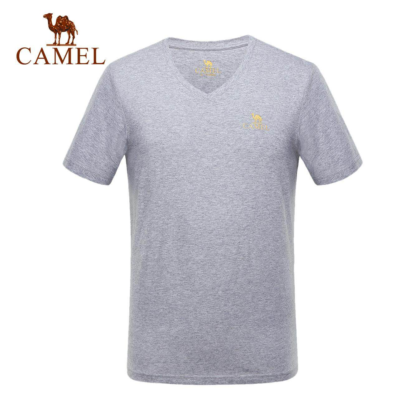 b50ea02e042d Camel outdoor men's T-shirt Daily casual short-sleeved sports loose  breathable V-