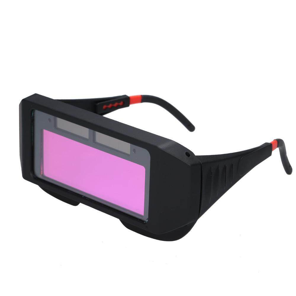 Solar Powered Auto Darkening Welding Glass Photoelectric Welding Mask Helmet Practical Eyes Goggle Workplace Safety Protection Weld Protective Gear