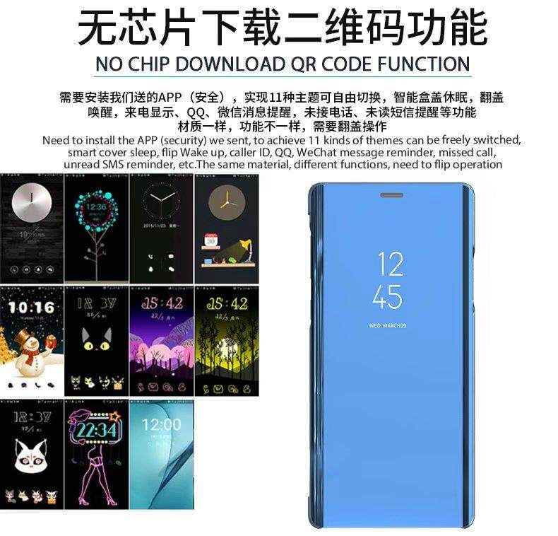 Smart Mirror Case For Samsung Galaxy A9 2018 A920 SM-A920F Case Clear View  Flip Stand PU Leather Cover For Samsung A9 2018 Case