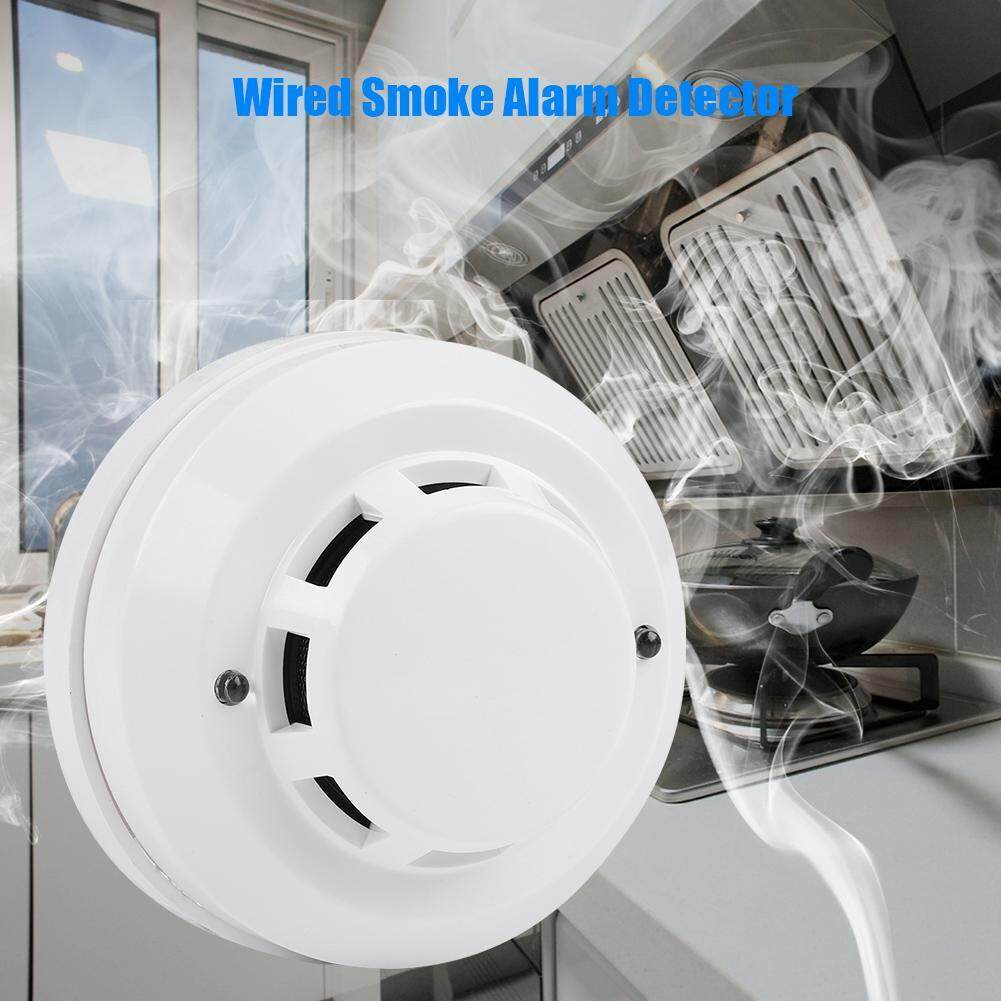 Wired Smoke Alarm Detector Gas Network Analyzer Fire Protection Security Alarm Fire Protection Detector
