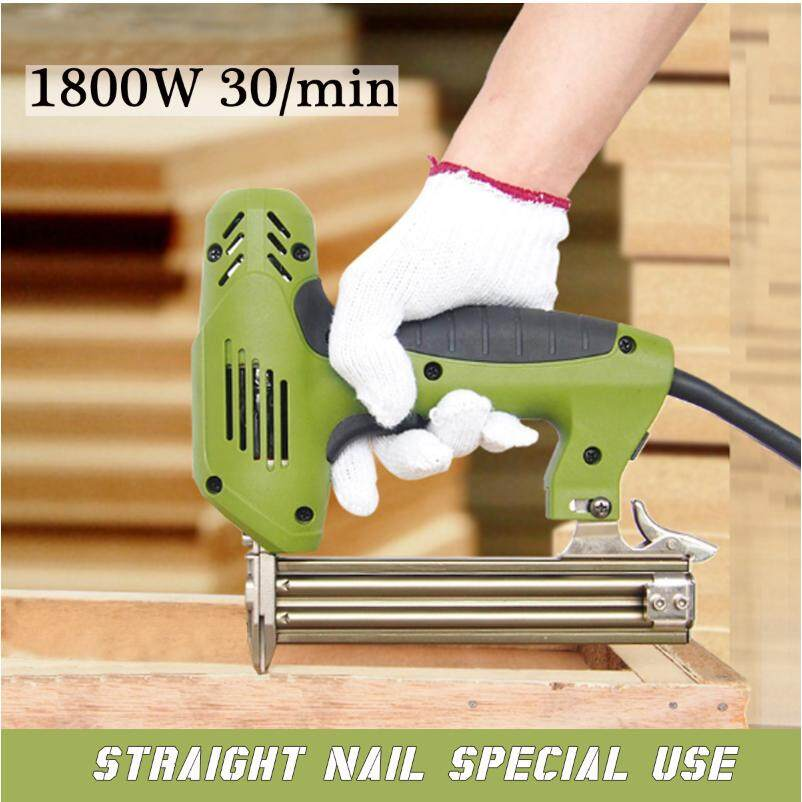 1800W Electric Staple Straight Nail Gun 30/min Woodworking Tool 220V