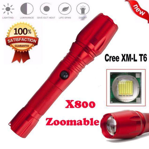 ... MYR 23 ANTIVES Super Bright X800 XML T6 Zoomable Focus LED Flashlight Torch 5 Mode Light