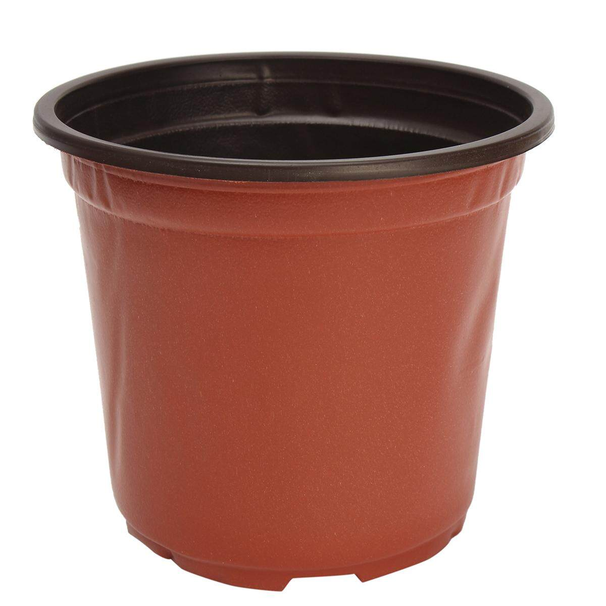 100Pcs Plastic Garden Nursery Pots Flowerpot Seedlings Planter Containers Set#9*6*8cm
