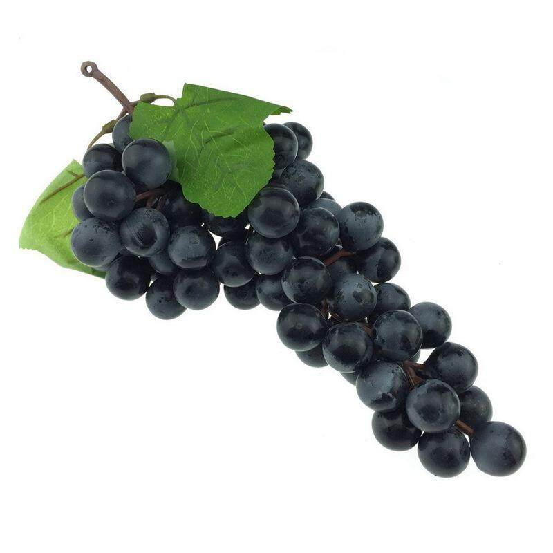 85pcs Lifelike Artificial Black Purple G Cer Faux Fake Fruit Christmas Party Decor