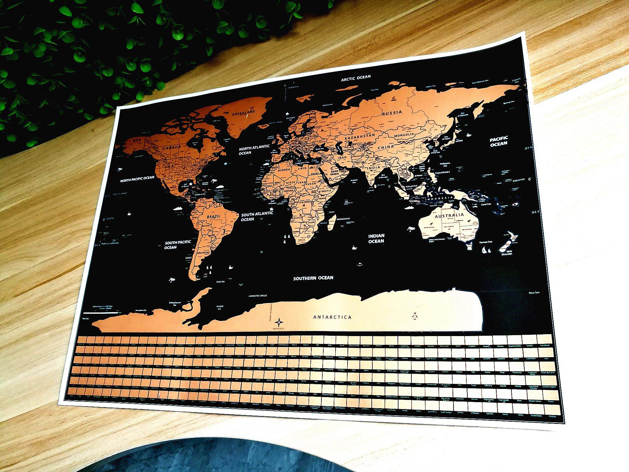 Personalized Black Scratch Map 58X83 CM Deluxe Travel Edition Scratch Off World Map Poster Wall Stickers