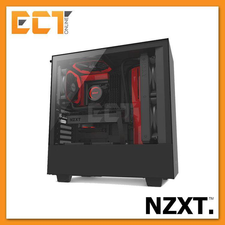 NZXT H500 Full Tempered Glass ATX Gaming Casing Chassis (Black/White/Red) Malaysia