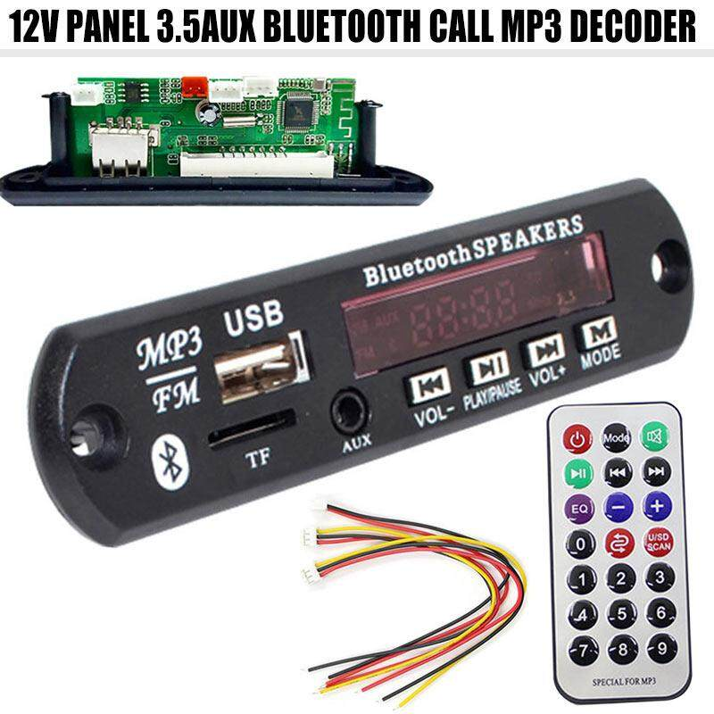 Ybc 12v Mp3 Wma Decoder Board Audio Module With Remote Control 3.5mm Aux Bluetooth Usb Radio For Car By Your Bestchoice.