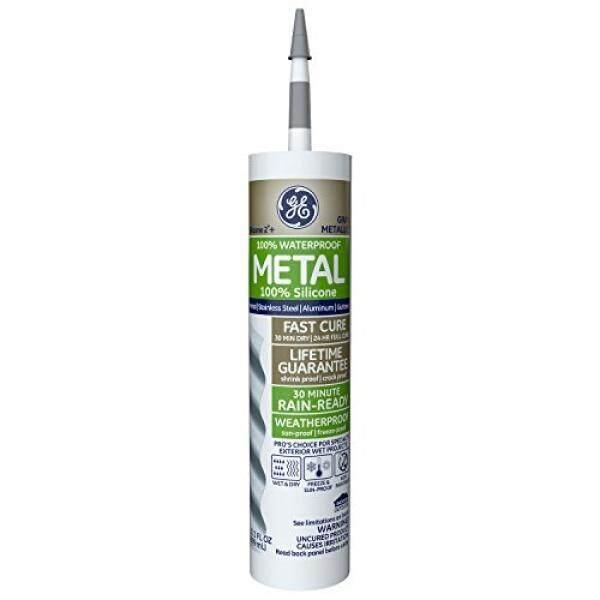 GE GEilicone 2+ Specialty Silicone Caulk 10.1 oz. Tube Metallic Gray