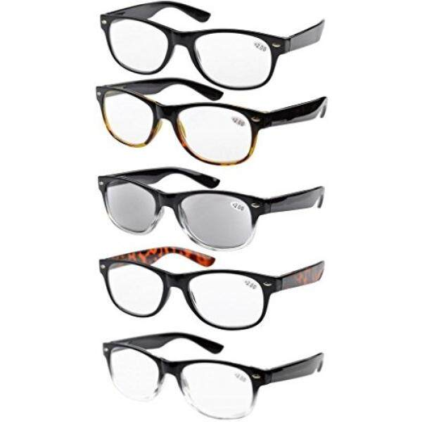 8fa25a12023 Eyekepper 5-pack Spring Hinges 80s Reading Glasses Includes Sun Readers  +1.75