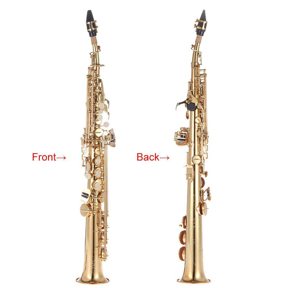 Brass Straight Soprano Sax Saxophone Bb B Flat Woodwind Instrument Natural Shell Key Carve Pattern By Koko Shopping Mall.