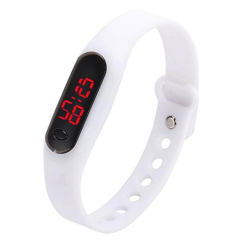 Fashion child movement Silica gel LED Watch White Malaysia