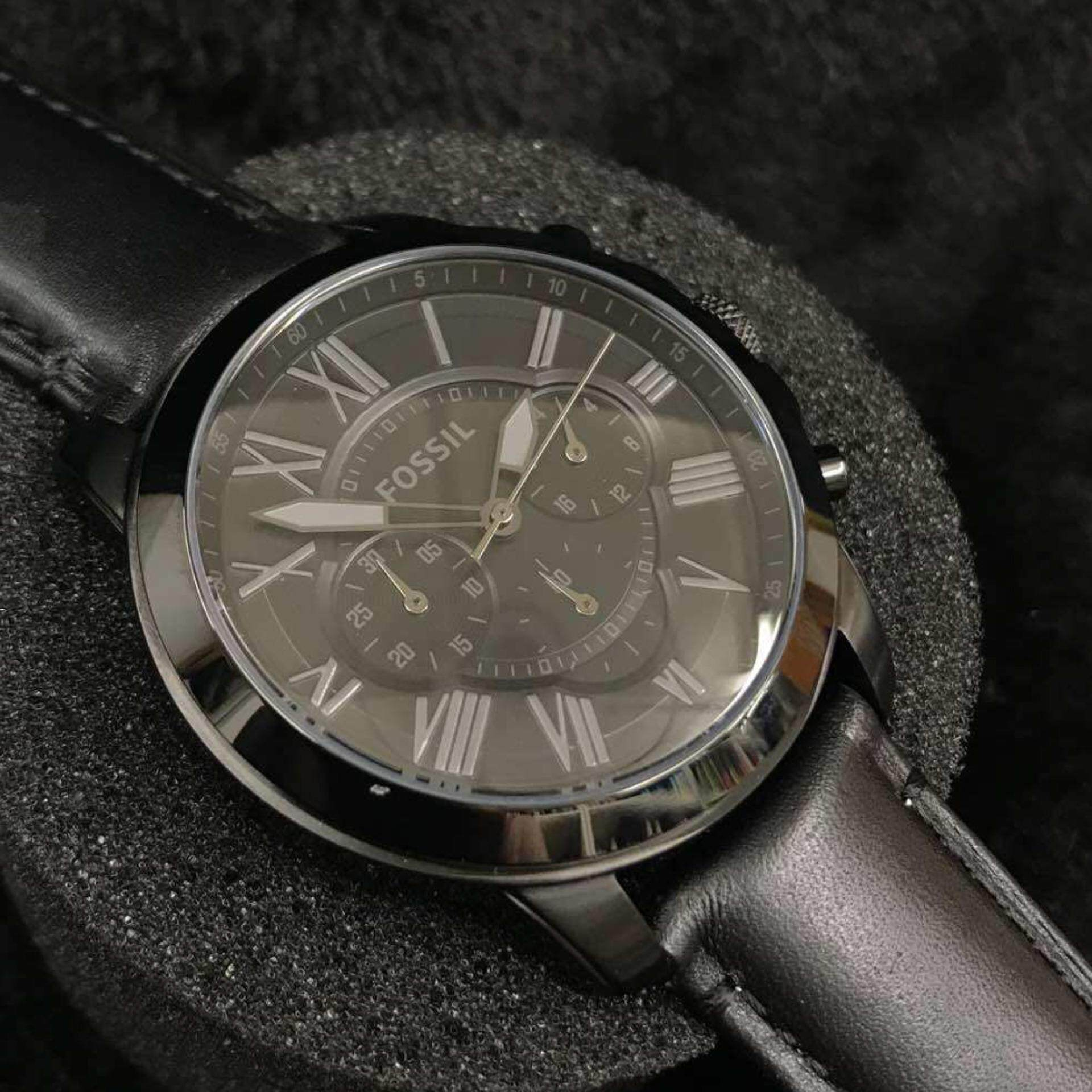 Sell Fossil Mens Ch3023 Cheapest Best Quality My Store Me3138 Grant Sport Automatic Skeleton Dial Black Leather Watch Chronograph Brown Rstrap Fs4735myr285 Myr 285