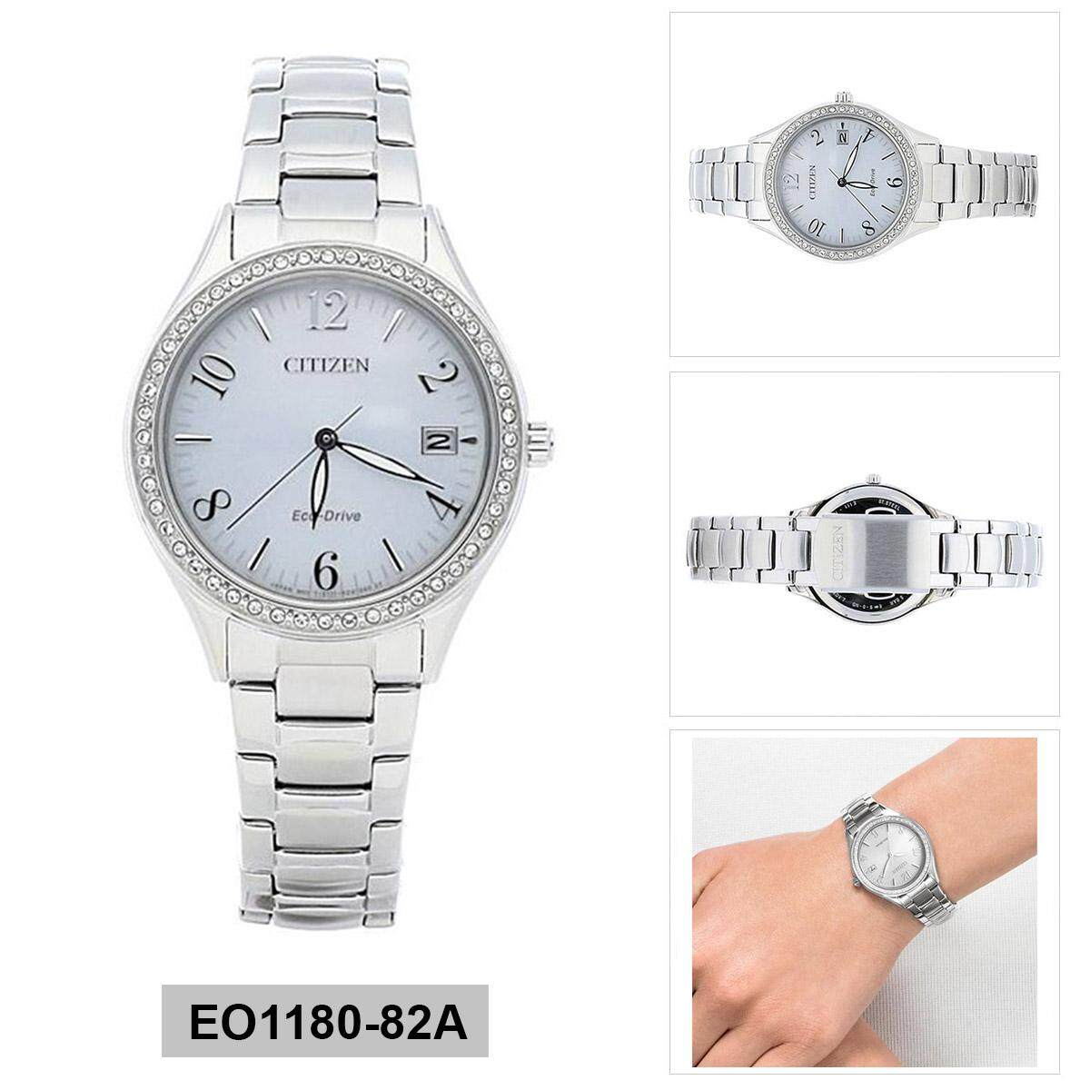 Citizen Eco-Drive Silver Stainless-Steel Case Stainless-Steel Bracelet Ladies EO1180-82A Malaysia