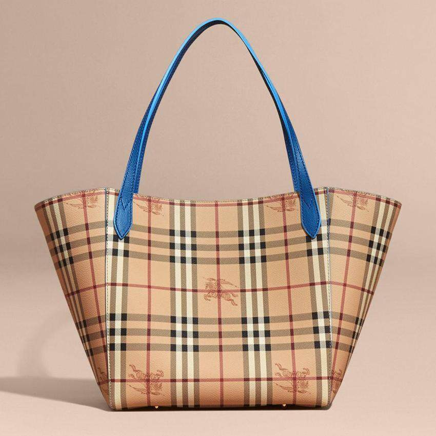 Burberry Haymarket Check Colours Small Canterbury Tote Mineral Blue