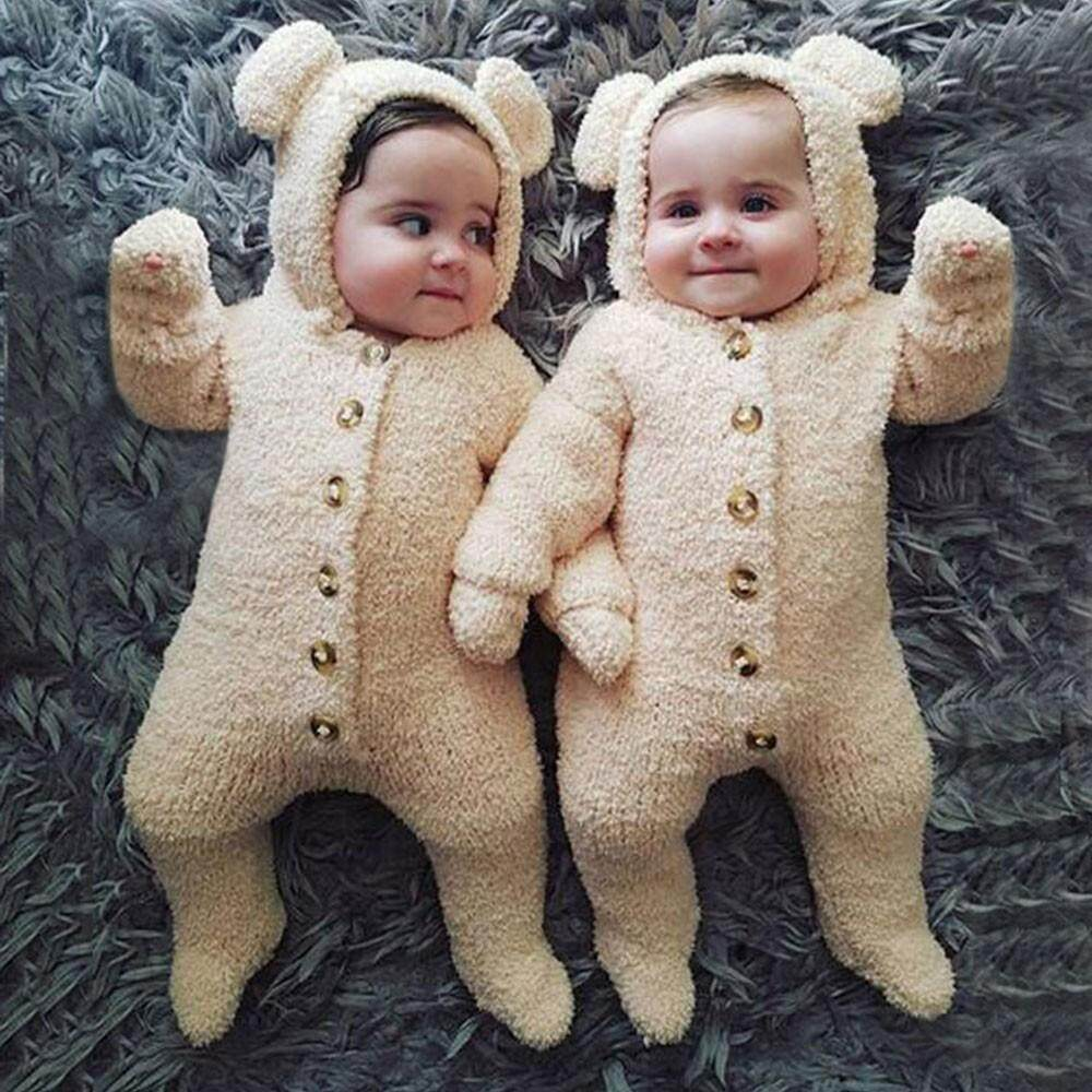 Docesty-Newborn Baby Boys Girls Fur Hoodie Winter Warm Coat Jacket Cute Thick Clothes By Docesty.