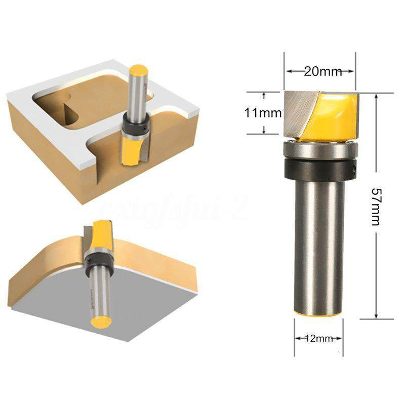 1/2 Mortise/Template Trim Router Bit Milling Cutter Shank Bearing 3/4x7/16x2-3/8