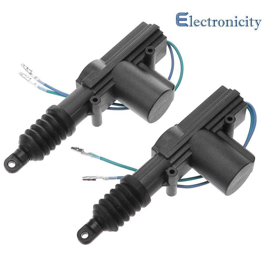 2pcs 12v Door Power Central Lock Kit With 2 Wire Actuator For Auto Vehicle By Electronicity.